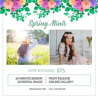 Spring Mini Session โพสต์บน Instagram template