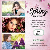 Spring Mini Session Instagram Post template