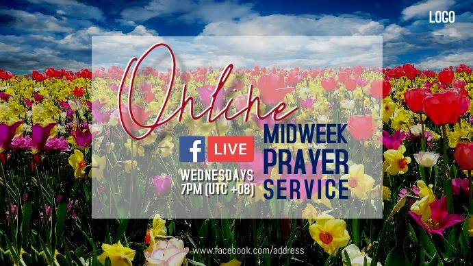 Spring Online Prayer Pantalla Digital (16:9) template