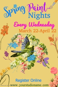 Spring Paint Nights Template