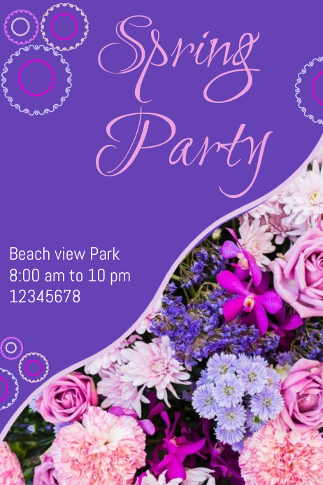 Spring party Póster template