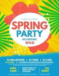 Spring Party Pamflet (Letter AS) template