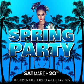 SPRING PARTY Instagram Post template