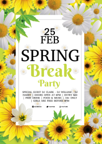 spring party A4 template