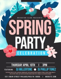 Spring Party Flyer (Letter pang-US) template