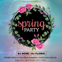 SPRING PARTY EVENT AD TEMPLATE โพสต์บน Instagram