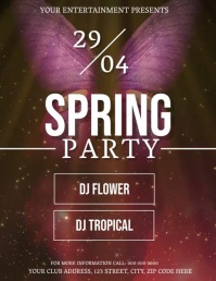 Spring Party Event DIGITAL Flyer Template