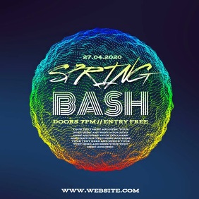 SPRING PARTY EVENT FLYER AD TEMPLATE