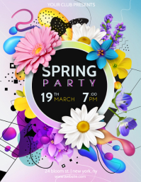 Spring Party Event Flyer