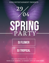 Spring Party Event Flyer Template