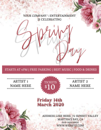 spring Party Event Template Volante (Carta US)