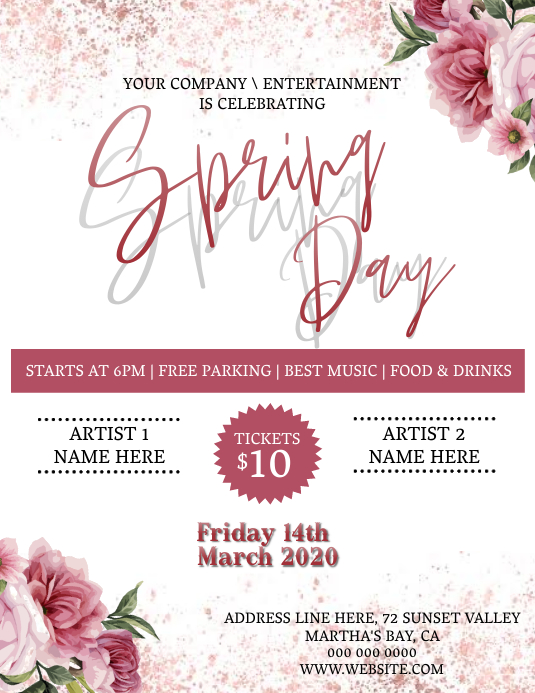 spring Party Event Template