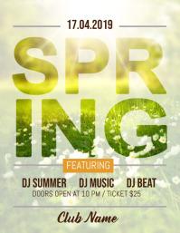 Spring Party Flyer, Spring Sale, Spring Break, Spring Fest