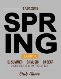 Spring Party Flyer, Spring Sale, Spring Break, Spring Video