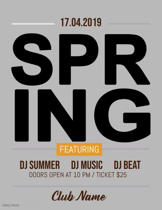 Spring Party Flyer, Spring Sale, Spring Break, Spring Video