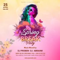 Spring Party instagram psot Quadrado (1:1) template