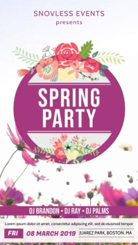 Spring Party Invitation Digital Display template