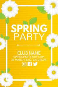 Spring party poster, Event poster, Party poster