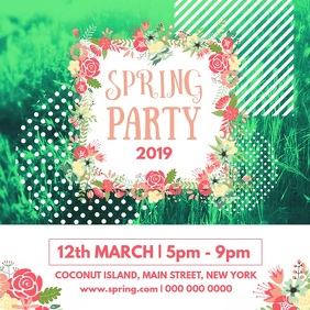 Spring Party Square Video
