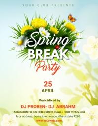 Spring Party Template Løbeseddel (US Letter)