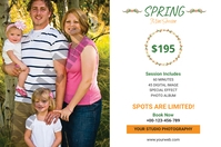 Spring Photography Mini Session Etiket template