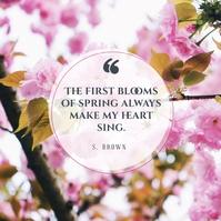 Spring Quotes Publicación de Instagram template