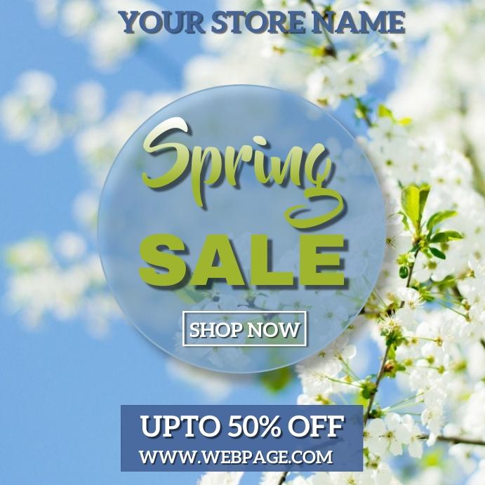 Spring retail Instagram Post template