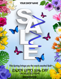 Spring Retail Flyer, Retail, Sale, Spring Sale Event