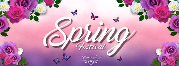 Spring Retail Flyer, Spring Festival, Spring Event Flyer Facebook Cover Photo template