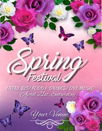 Spring Retail Flyer, Spring Festival, Spring Event Flyer template