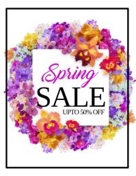 Spring Retail Flyer, Spring Sale, Spring Event Flyer