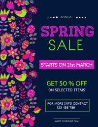 Spring Retail Flyer, Spring Sale, Spring Event Flyer