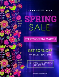 Spring Retail Video Spring Sale Video, Spring Video Flyer (US Letter) template