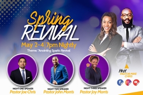 SPRING REVIVAL Poster template