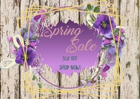Spring Sale 2 Postkarte template