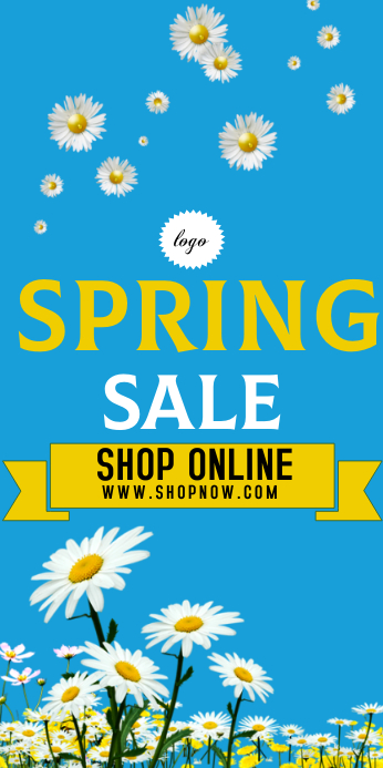 """Spring Sale 3"""" 6"""" size banner template"""