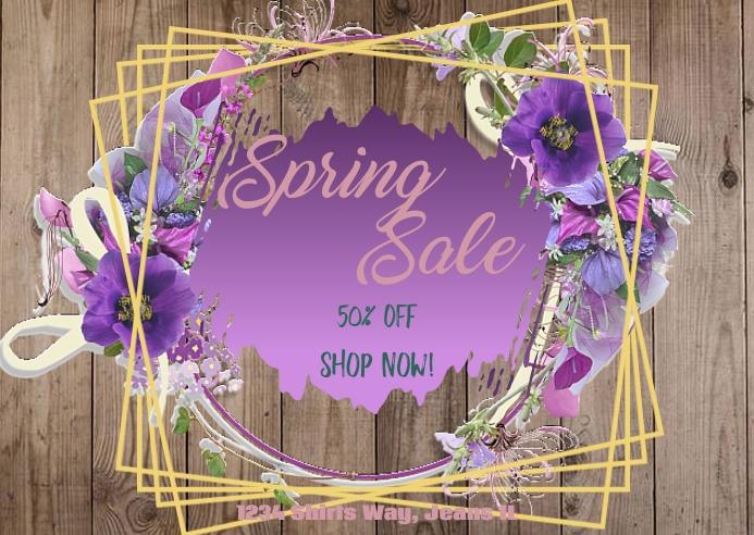 Spring Sale 3 Postal template