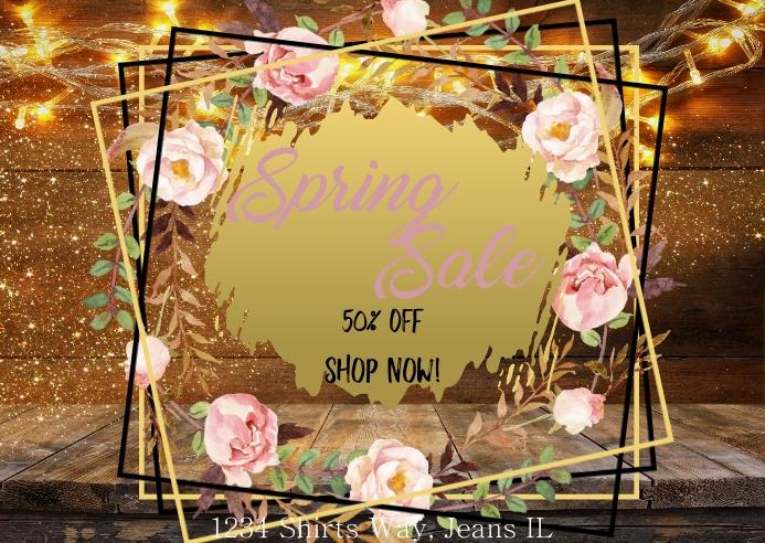 Spring Sale 5 Postal template