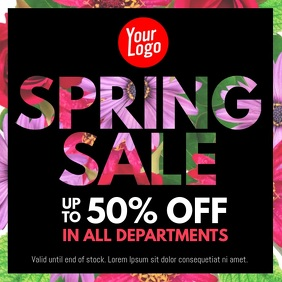 Spring Sale 50% off facebook instagram ad