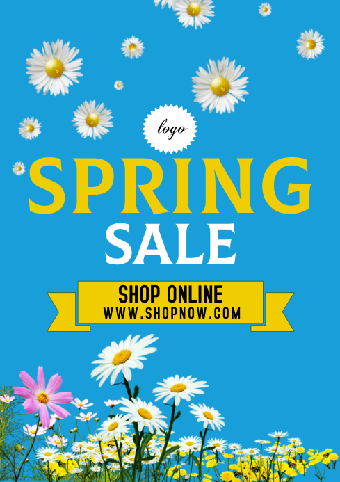 Spring Sale A 4 size template A4