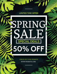 SPRING SALE AD Flyer Template