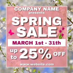 Spring sale advertisement instagram post temp