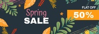 spring sale banner,summer sale banner Transparent na Tumblr template