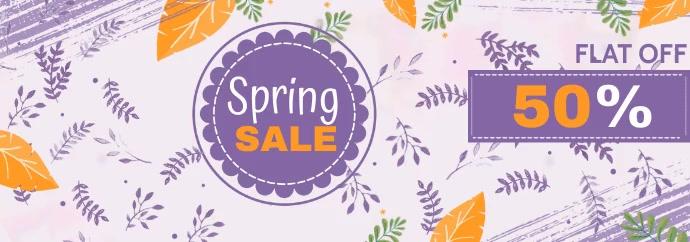 spring sale banner,summer sale banner Tumblr-banner template