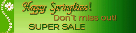 Spring Sale Banner Ibhana 2' × 8' template