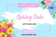 Spring Sale Banners แบนเนอร์ 4' × 6' template