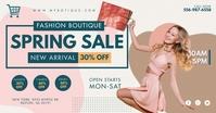 Spring Sale Clothes Shop Facebook Post Templa template