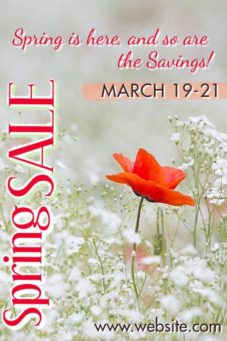 Spring Sale Plakat template
