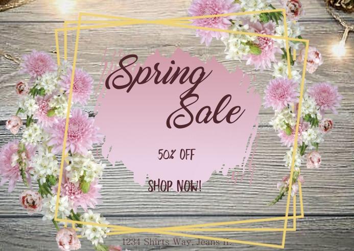 Spring Sale- Postal template