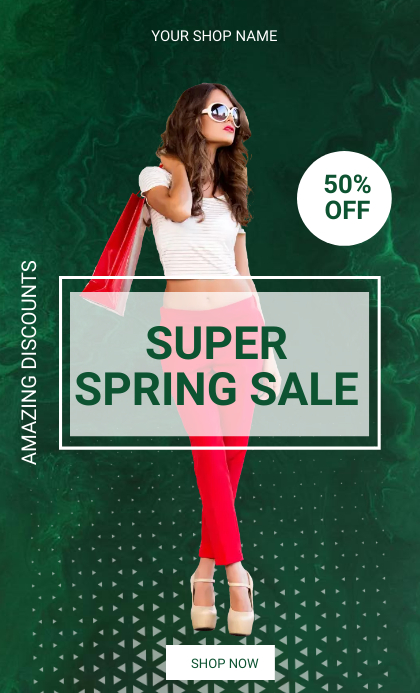 Spring sale US Legal template